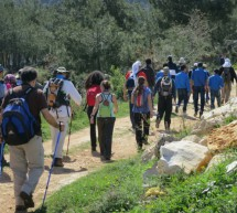 Hundreds of hikers walking through Lebanon for the conservation of birds