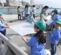 Environmental Scout Organization organized a kite competition