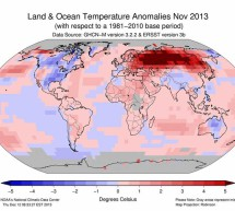 This past November was the hottest on Earth since 1880